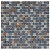 "EliteTile Sierra 0.625"" x 0.625"" Glass and Natural Stone Mosaic Tile in Wisp"