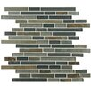 """EliteTile Sierra 11.75"""" x 11.875"""" Glass and Natural Stone Mosaic Tile in Wisp"""