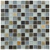 """EliteTile Sierra 0.875"""" x 0.875"""" Glass and Natural Stone Mosaic Tile in Tundra"""