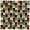 "EliteTile Sierra 0.875"" x 0.875"" Glass and Natural Stone Mosaic Tile in Canopy"