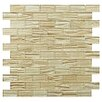 "EliteTile Timber Glass 12.25"" x 12.25"" Glass Mosaic Tile in Cream"