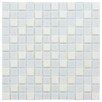 "EliteTile Chroma 0.875"" x 0.875"" Glass and Natural Stone MosaicTile in Cordia"