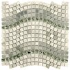 "EliteTile Sierra 0.563"" x 0.563"" Glass, Natural Stone and Metal Mosaic Tile in Wave Mercury"