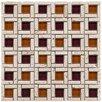 EliteTile Sierra Random Sized Glass and Natural Stone Mosaic Tile in Sienna
