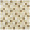 "EliteTile Chroma 0.875"" x 0.875"" Glass and Natural Stone Mosaic Tile in Olea"