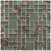 EliteTile Sierra Random Sized Glass Mosaic Tile in Vesuvius Ranier