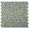 "EliteTile Penny 0.75"" x 0.75"" Porcelain Mosaic Tile in Marine"