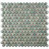 "EliteTile Penny 0.8"" x 0.8"" Porcelain Mosaic Tile in Marine"