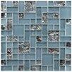 """EliteTile Sierra 11.75"""" x 11.75"""" Glass Mosaic Tile in Versailles Vesuvius"""