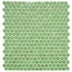 "EliteTile Posh Penny 0.625"" x 0.625"" Porcelain Mosaic Tile in Capri"