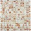 "EliteTile Fused 0.75"" x 0.75"" Glass Mosaic Tile in White"