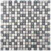 EliteTile Grizelda Mini Natural Stone Mosaic Tile in Charcoal