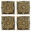 "EliteTile Milton 1.2"" x 1.2"" Medallion Mosaic Pin Insert Wall Tile in Bronze"