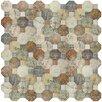 "EliteTile Sileco 17.75"" x 17.75"" Ceramic Mosaic Tile in Beige"
