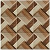 "EliteTile Colina 17.75"" x 17.75"" Ceramic Wood Tile in Natural"