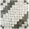 "EliteTile Molinos 20.25"" x 20.25"" Ceramic Mosaic Tile in Blanco"
