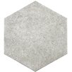 "EliteTile Transit 9.88"" x 8.63"" Porcelain Floor and Wall Tile in Gray"