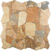 "EliteTile Atticas 17.75"" x 17.75"" Ceramic Splitface Tile in Caldera"