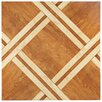 "EliteTile Anchorage 17.75"" x 17.75"" Ceramic Wood Look Tile in Caramelo"