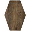 "EliteTile Egurra 8.38"" x 11.75"" Porcelain Wood Look Tile in Hex Irr Ebano"