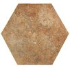 "EliteTile Lincoln 14"" x 16"" Porcelain Splitface Tile in North Hex"