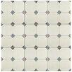 """EliteTile Turia 13.12"""" x 13.12"""" Ceramic Field Tile in Jet Blanco"""
