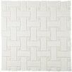 "EliteTile Retro Basket Weave 10.5"" x 10.5"" Porcelain Mosaic Tile in White"