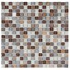 "EliteTile Sierra 0.625"" x 0.625"" Glass and Natural Stone Mosaic Tile in Tundra"