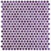"EliteTile Astraea 0.62"" x 0.62"" Porcelain Mosaic Tile in Purple"