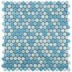 "EliteTile Astraea 12"" x 12"" Porcelain Mosaic Tile in Oceano"