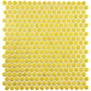 "EliteTile Tucana 12"" x 12"" Porcelain Mosaic Tile in Yellow"