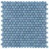 "EliteTile Astraea 0.62"" x 0.62"" Porcelain Mosaic Tile in Sky"