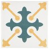 """EliteTile Revive 7.75"""" x 7.75"""" Ceramic Hand Painted Tile in White"""
