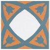 "EliteTile Revive 7.75"" x 7.75"" Ceramic Hand Painted Tile in Orange"