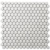 "EliteTile Retro 0.75"" x 0.75"" Porcelain Mosaic Tile in White"