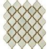 """EliteTile Arabesque 1.87"""" x 2.75"""" Porcelain Mosaic Tile in Selene"""