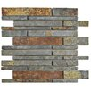 EliteTile Peak Grand Piano Random Sized Slate Mosaic Tile in Sunset