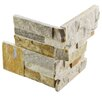"EliteTile Piedro 7"" x 7"" Corner Tile Trim in Honey"