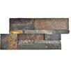 """EliteTile Piedro 7"""" X 13.5"""" Slate Splitface Tile in Rusty"""