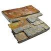 """EliteTile Piedro 7"""" x 7"""" Slate Corner Tile Trim in Rusty"""