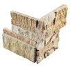 "EliteTile Piedro 7"" x 7"" Natural Stone Corner Tile Trim in Sandstone"