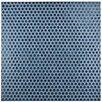 """EliteTile Penny 0.8"""" x 0.8"""" Porcelain Mosaic Tile in Denim Blue"""