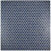 "EliteTile Penny 0.8"" x 0.8"" Porcelain Mosaic Tile in Smoky Blue"