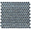 "EliteTile Penny 0.8"" x 0.8"" Porcelain Mosaic Tile in Storm Gray"
