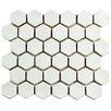 "EliteTile Greenwich 1.88"" x 2.13"" Hexagon Ceramic Tile in White"