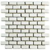 "EliteTile Greenwich 0.88"" x 2.88"" Mini Subway Ceramic Mosaic Tile in White"