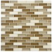 "EliteTile Sierra 0.5"" x 1.875"" Glass and Natural Stone Mosaic Tile in Latte"