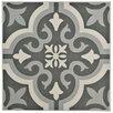 """EliteTile Lima 7.75"""" x 7.75"""" Ceramic Field Tile in Black"""