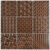 "EliteTile Vigor 3.88"" x 3.88"" Porcelain Mosaic Tile in Copper"