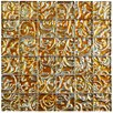 "EliteTile Florencia 1.88"" x 1.88"" Embossed Quad Glass Mosaic Tile in Champagne"